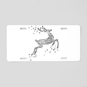 REINDEER Aluminum License Plate