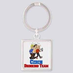 Czech Drinking Team Square Keychain