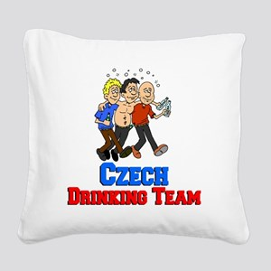 Czech Drinking Team Square Canvas Pillow