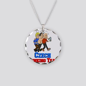 Czech Drinking Team Necklace Circle Charm