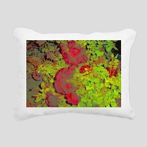 Night Roses Rectangular Canvas Pillow