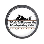 Work to support habit Wall Clock