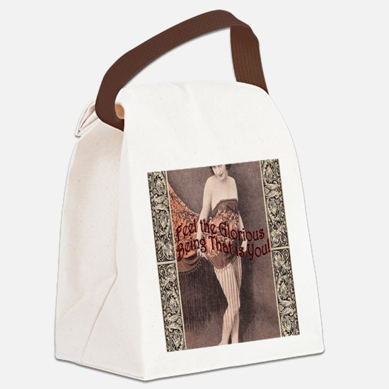 full Feel the Glory Canvas Lunch Bag