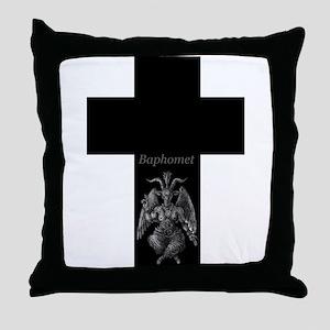 Baphomet Cross Throw Pillow
