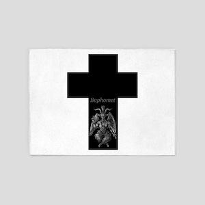 Baphomet Cross 5'x7'Area Rug