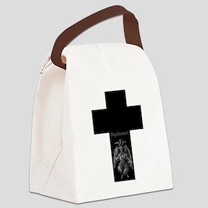 Baphomet Cross Canvas Lunch Bag