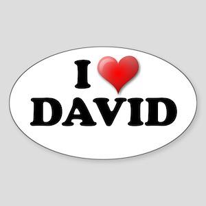 I LOVE DAVID T-SHIRT DAVID SH Oval Sticker