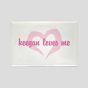 """keegan loves me"" Rectangle Magnet"