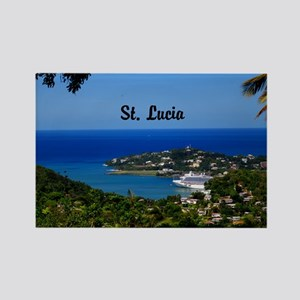 St Lucia 5.5x3.5 Rectangle Magnet