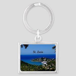 St Lucia 5.5x3.5 Landscape Keychain