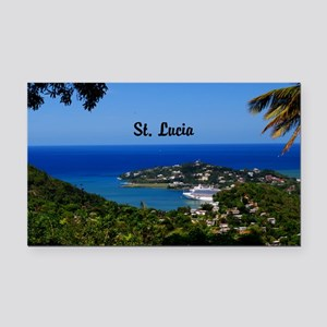 St Lucia 5.5x3.5 Rectangle Car Magnet