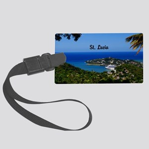 St Lucia 5.5x3.5 Large Luggage Tag