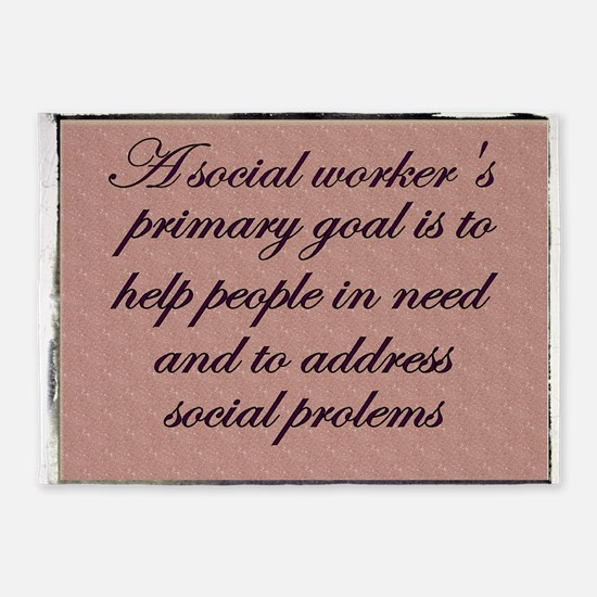 Social work ethics 1 5'x7'Area Rug