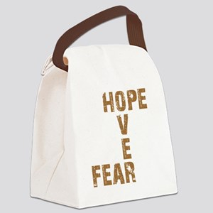 Hope Over Fear Canvas Lunch Bag