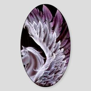 Purple Pegasus Sticker (Oval)