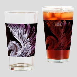 Purple Pegasus Drinking Glass