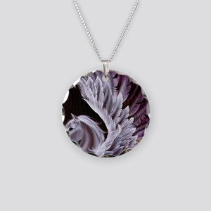 Purple Pegasus Necklace Circle Charm