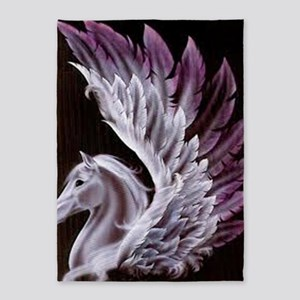 Purple Pegasus 5'x7'Area Rug