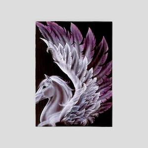 Purple Pegasus 5'x7'Area Rug