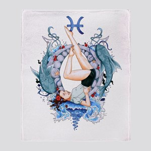 Pisces_signed Throw Blanket
