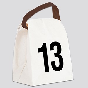helvetica_13 Canvas Lunch Bag