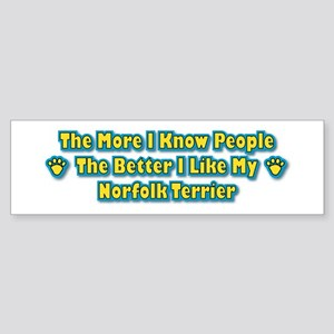Like My Norfolk Terrier Bumper Sticker