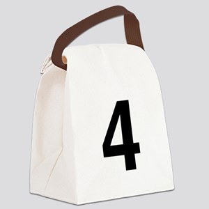 helvetica_4_black Canvas Lunch Bag