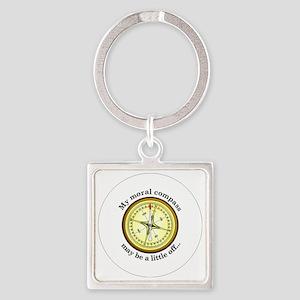CompassButton Square Keychain