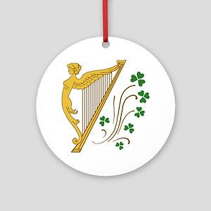 ireland-harp Round Ornament
