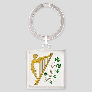 ireland-harp Square Keychain
