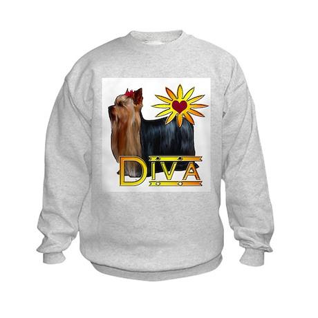 Yorkshire terrier diva Kids Sweatshirt