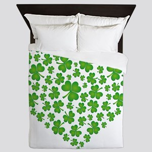 My Irish Heart SHAMROCKS copy Queen Duvet