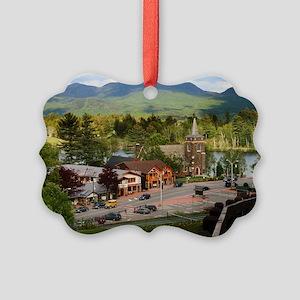LakePlacidS Mini poster Picture Ornament