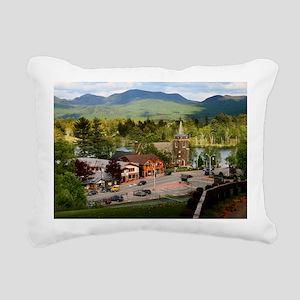 LakePlacidS Mini poster Rectangular Canvas Pillow