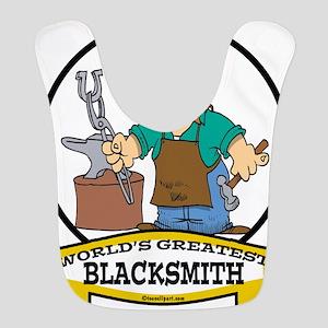 WORLDS GREATEST BLACKSMITH CARTOON Bib