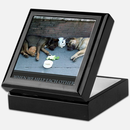 When We Help Each Other We Help Ourse Keepsake Box