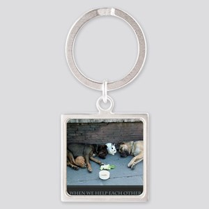 When We Help Each Other We Help Ou Square Keychain