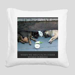 When We Help Each Other We He Square Canvas Pillow