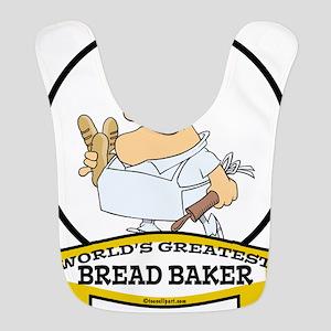 WORLDS GREATEST BREAD BAKER MAN CARTOON Bib