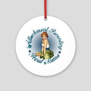 Breastfeeding Mama3 Round Ornament