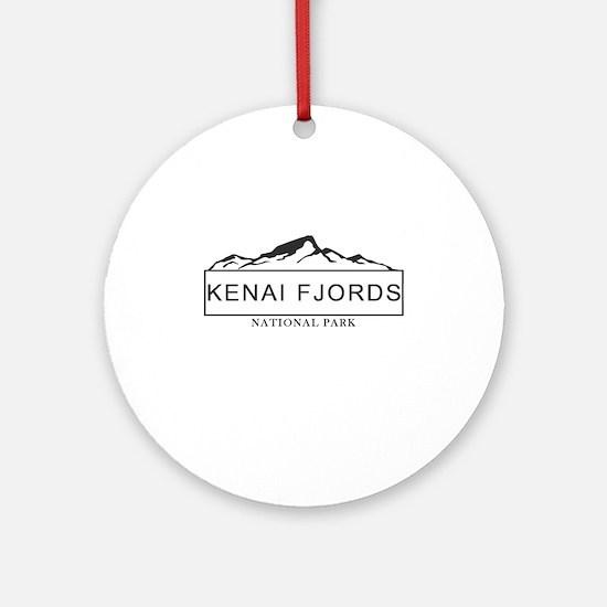 Kenai Fjords - Alaska Round Ornament