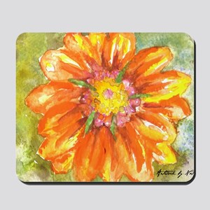 Orange Daisy Mousepad