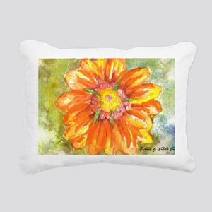 Orange Daisy Rectangular Canvas Pillow