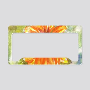 Orange Daisy License Plate Holder
