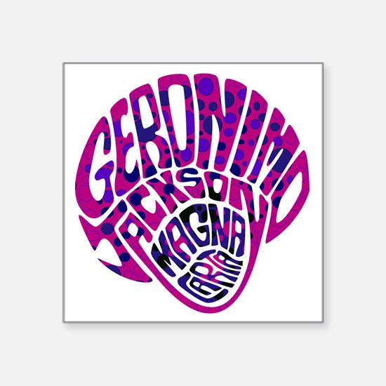 "GeronimoJackson03_10x10W Square Sticker 3"" x 3"""