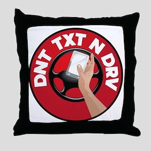 dnttxtndrv Throw Pillow
