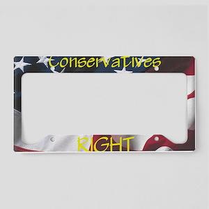 Conservatives Right License Plate Holder