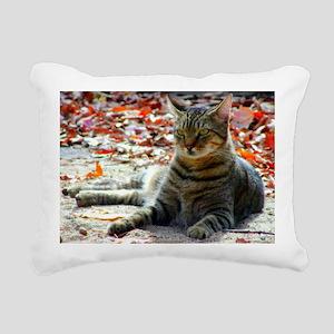gorgeous brown tabby Rectangular Canvas Pillow