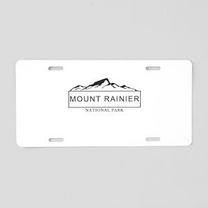 Mount Rainier - Washington Aluminum License Plate
