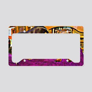 two cute doxies License Plate Holder